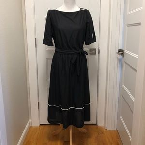 Vintage Eighties Puff Sleeve Dress - Size 10